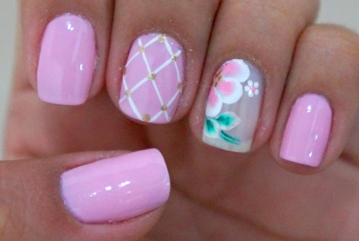 Unhas Decoradas Rose Quartz Cor da Moda 2016
