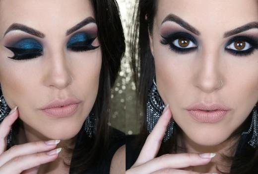 Maquiagem Azul Petróleo para Balada