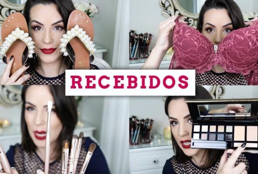 RECEBIDOS de outubro: Maquiagem, lingerie, cosméticos, calçados :D