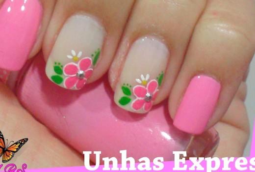 Unhas Decoradas Express – Flores irmãs Gêmeas