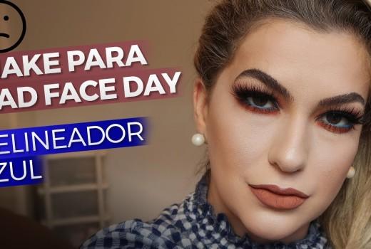 """USANDO DELINEADOR AZUL PARA """"BAD FACE DAY"""" POR ALICE SALAZAR"""