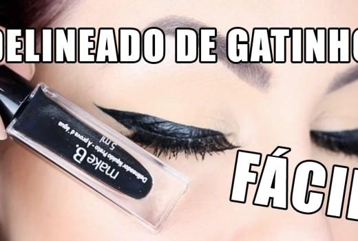 DELINEADO DE GATINHO COM DELINEADOR LÍQUIDO QUE VOCÊ RESPEITA