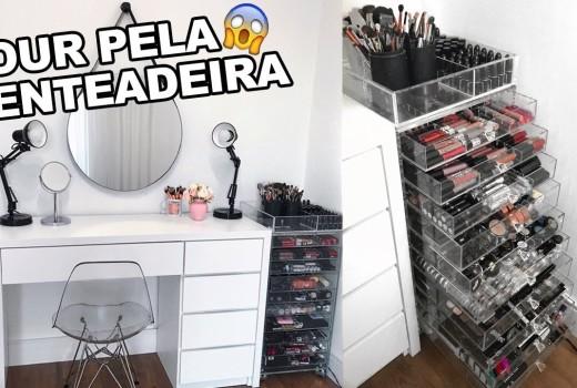 TOUR PELA PENTEADEIRA | TODA MINHA COLEÇÃO DE MAQUIAGEM