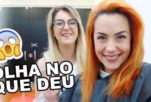 MUDEI A COR DO CABELO – DEU RUIM?!